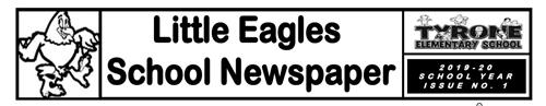 Little Eagles School Newspaper Header